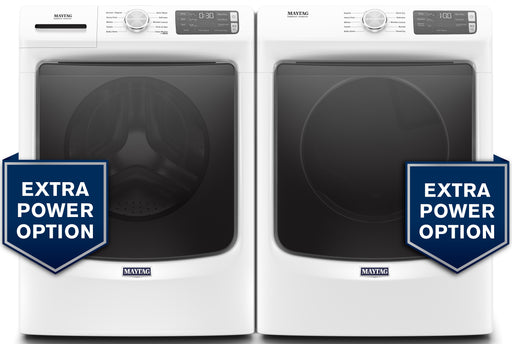 Maytag 5.2 cu.ft Front Load Washer with 7.3 cu.ft Front Load Electric Dryer Laundry Pair in White