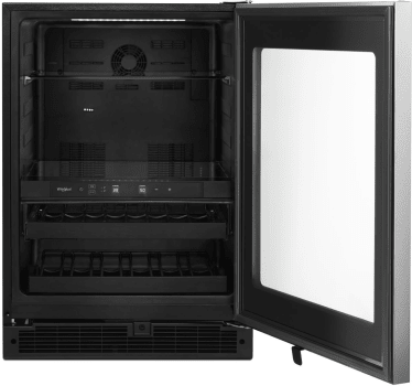 Whirlpool WUB35X24HZ 5.2 cu. ft. 24-inch Wide Undercounter Beverage Center with Towel Bar Handle in Fingerprint Resistant Stainless Steel