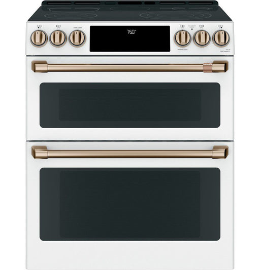 GE Cafe CCES750P4MW2 7 cu ft. Electric Double Oven Slide-In Range in Matte White