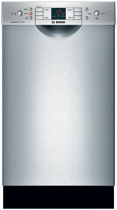 BOSCH SPE53B55UC 300 Series 18 inch 46 DBA Built In Dishwasher in Stainless Steel