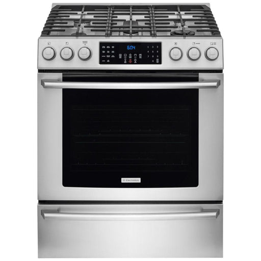 Electrolux EI30GF45QS 30'' Gas Front Control Freestanding Range - Stainless Steel - Cooking Range - Electrolux - Topchoice Electronics