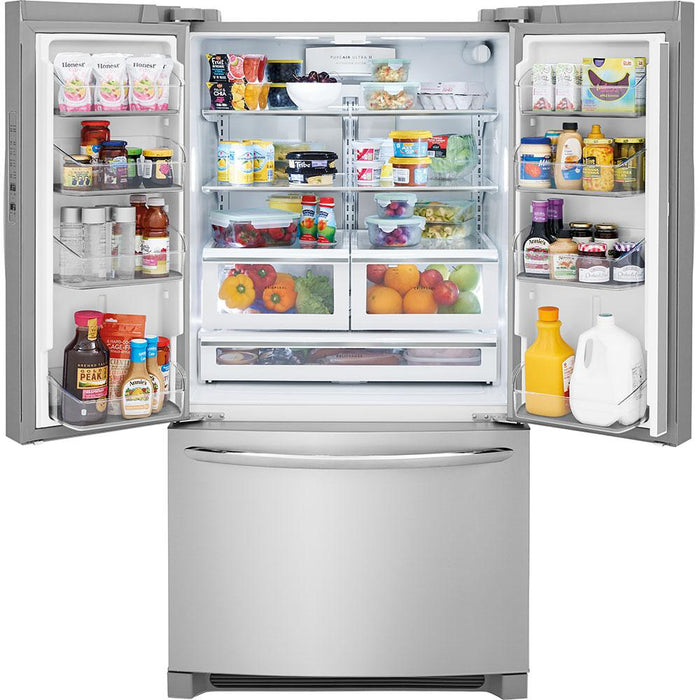 Frigidaire Gallery FGHG2368TF 22.4 Cu. Ft. Counter-Depth French Door Refrigerator - Stainless Steel - Smudge Proof - Refrigerator - Frigidaire Gallery - Topchoice Electronics