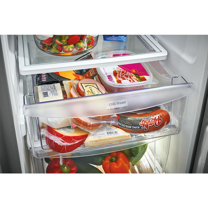 Frigidaire Gallery FGSS2335TF 22.2 Cu. Ft. Side-by-Side Refrigerator - Stainless Steel - Smudge Proof - Refrigerator - Frigidaire Gallery - Topchoice Electronics