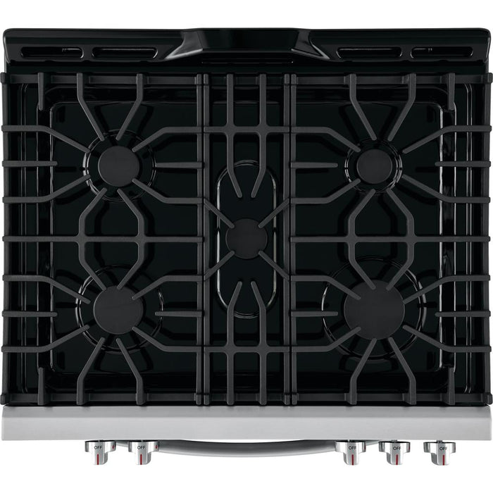 Frigidaire FFGH3054US  30'' Front Control Freestanding Gas Range in Stainless Steel