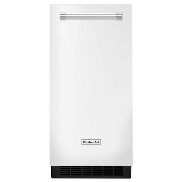 KitchenAid KUIX335HWH 15 Inch 50 lb Built-In Ice Maker In White
