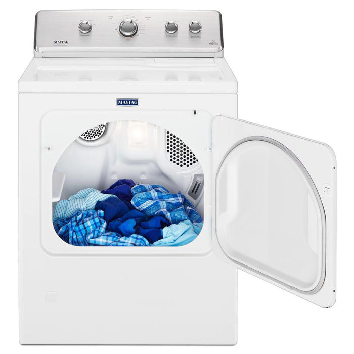 Maytag MGDC465HW 7.0 cu. ft. 120-Volt White Gas Vented Dryer with Wrinkle Control - White
