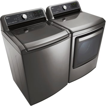 LG 5.0 Cu. Ft. Top Load Washer with 7.3 Cu. Ft. Electric Dryer Laundry Pair in Graphite Steel