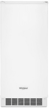Whirlpool WUI75X15HW 15-inch Icemaker with Clear Ice Technology in White