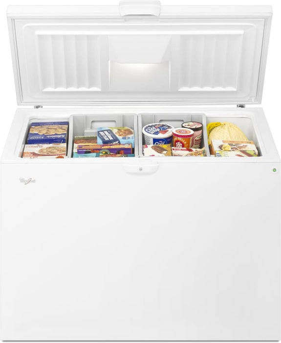 Whirlpool WZC5422DW 22 Cube Feet Chest Freezer with Temperature Alarm In White