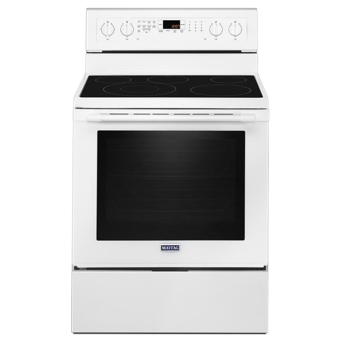 Maytag YMER8800FW 30 Inch 6.4 Cu. Ft. True Convection Electric Range With Power Preheat In White