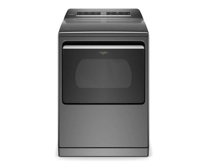Whirlpool YWED7120HC 7.4 cu. ft. Smart Top Load Electric Dryer In Chrome Shadow