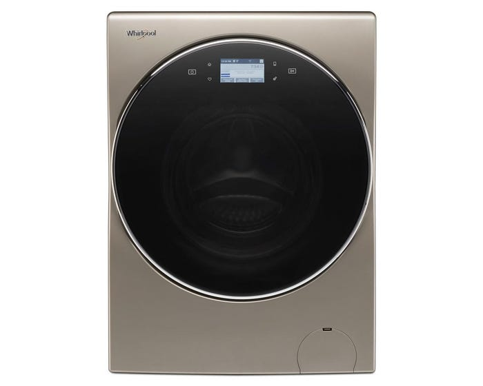 Whirlpool YWFC8090GX 3.2 cu.ft I.E.C. Smart All-In-One Washer and Dryer In Cashmere