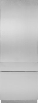 "Monogram ZKSSN804NRH 30"" Integrated Refer Stainless Steel Solid Door For 80"" High Installation"