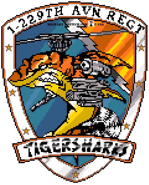 Aviation Regiment, 1-229th (Tiger Sharks) Insignia PDF