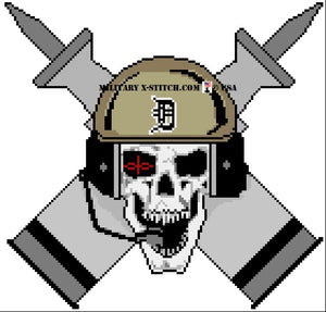 Armor Regiment, 1-64th Insignia Skull