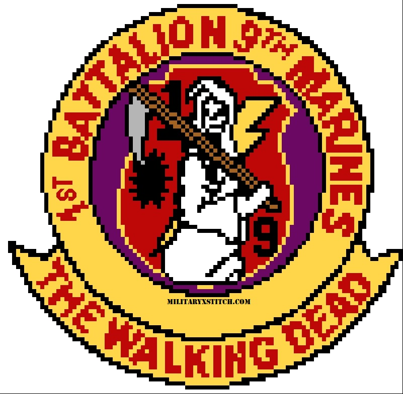 Marines, 1-9th Insignia