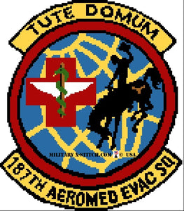 Aeromed Evac Squadron, 187th Insignia