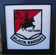 3/5 cavalry cross stitch pattern by MilitaryXStitch.com stitched by Debbie D