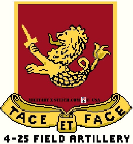 Field Artillery (FA), 4-25th Insignia