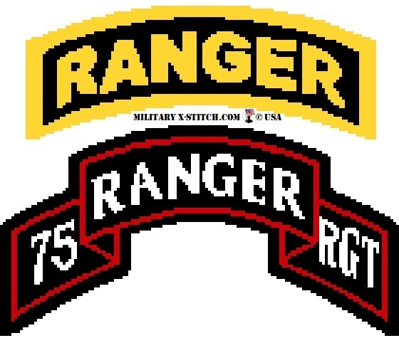 Ranger, 75th Regiment Scroll Sleeve Insignia