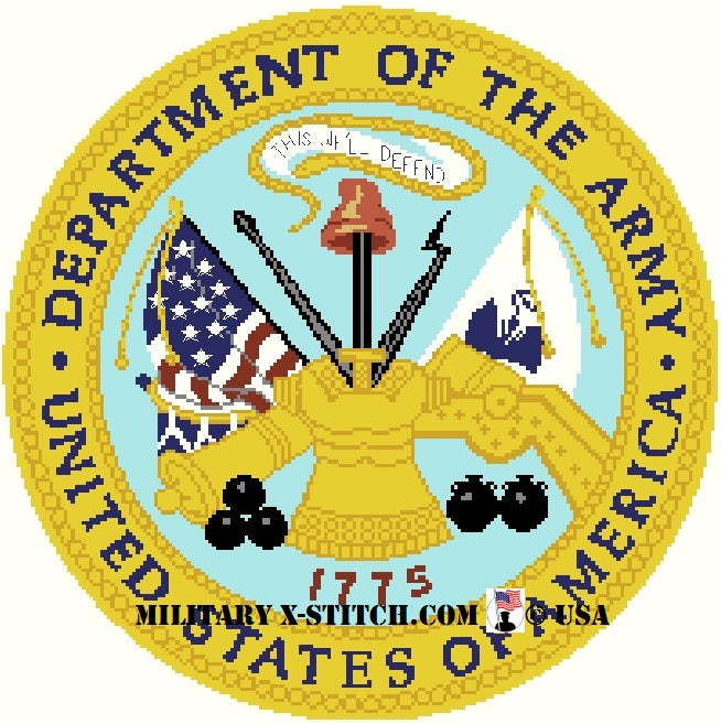 Department of the Army Seal 14 in. PDF