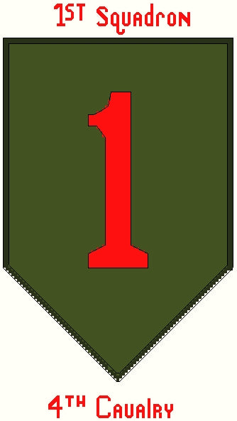 Cavalry 1/4 (Big Red One) Insignia