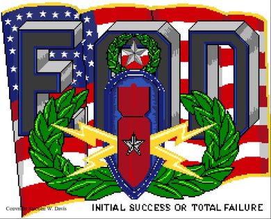 US Flag with EOD Insignia