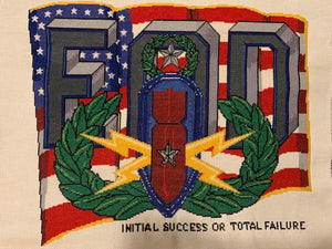 EOD Insignia with US Flag