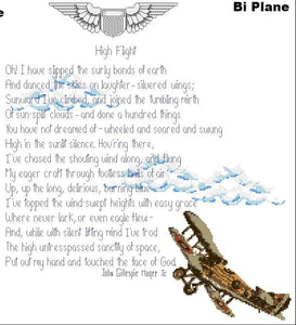 High Flight Poem with Bi Plane