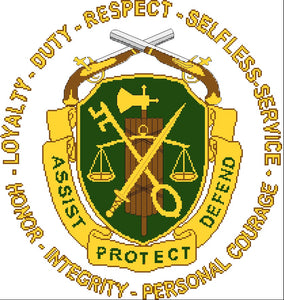 Military Police Regimental Insignia with wording