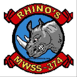 Marine Corps Wing Support Squadron 374 (MWSS-374) Insignia