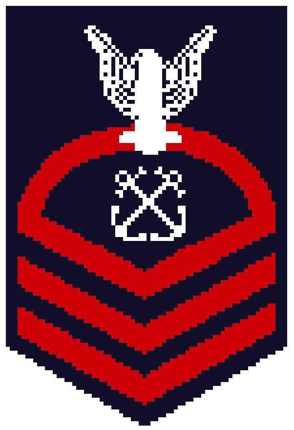 US Navy CPO sleeve insignia counted cross stitch pattern