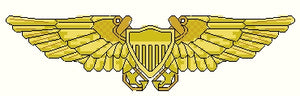 US Navy Flight Officer Wings insignia -counted cross stitch pattern