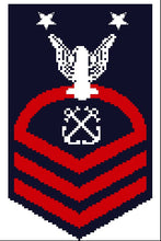 US Navy MCPO sleeve insignia counted cross stitch pattern