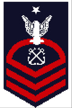 US Navy SCPO sleeve insignia counted cross stitch pattern