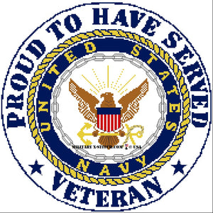 Navy Emblem w/ Proud Veteran