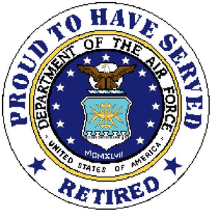 Department of the Air Force w/ Proud Retired