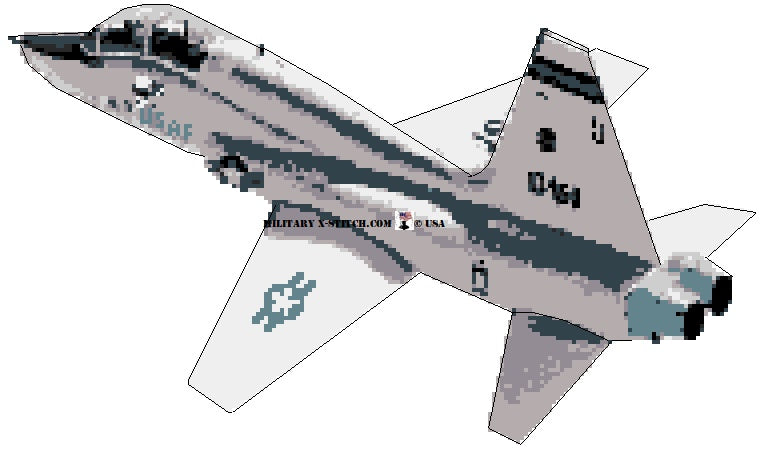 T-38 Talon cross stitch pattern