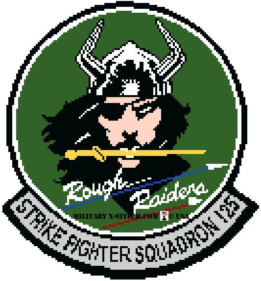 VFA-125 Rough Raiders Fighter Squadron Insignia (Green)