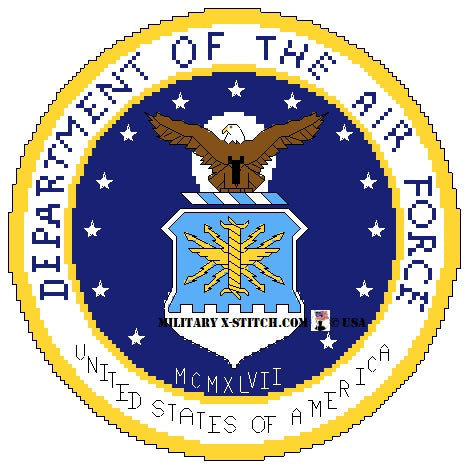 Department of the Air Force Seal 8 in.