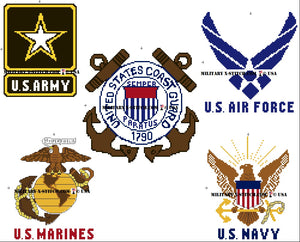 Five US Military Branches Logos