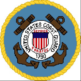 Coast Guard Emblem 10 in.