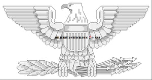 AF,MC Colonel, Navy Captain (0-6) insignia counted cross stitch pattern from Military XStitch.Com