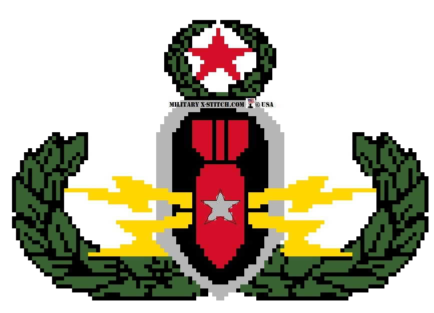 EOD Badge Color Insignia