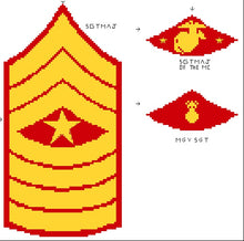 Marine Corps Ranks Sleeve Sergeant Insignias (incl. E-9) Kit