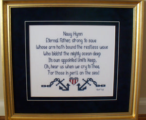 Navy Hymn crosses stitched by Gayle Y 2011