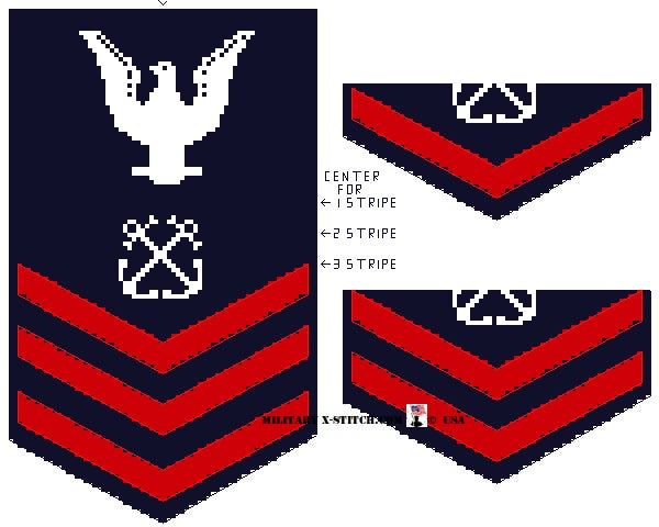 Navy Petty Officer (1st, 2nd, 3rd class) Sleeve Insignia