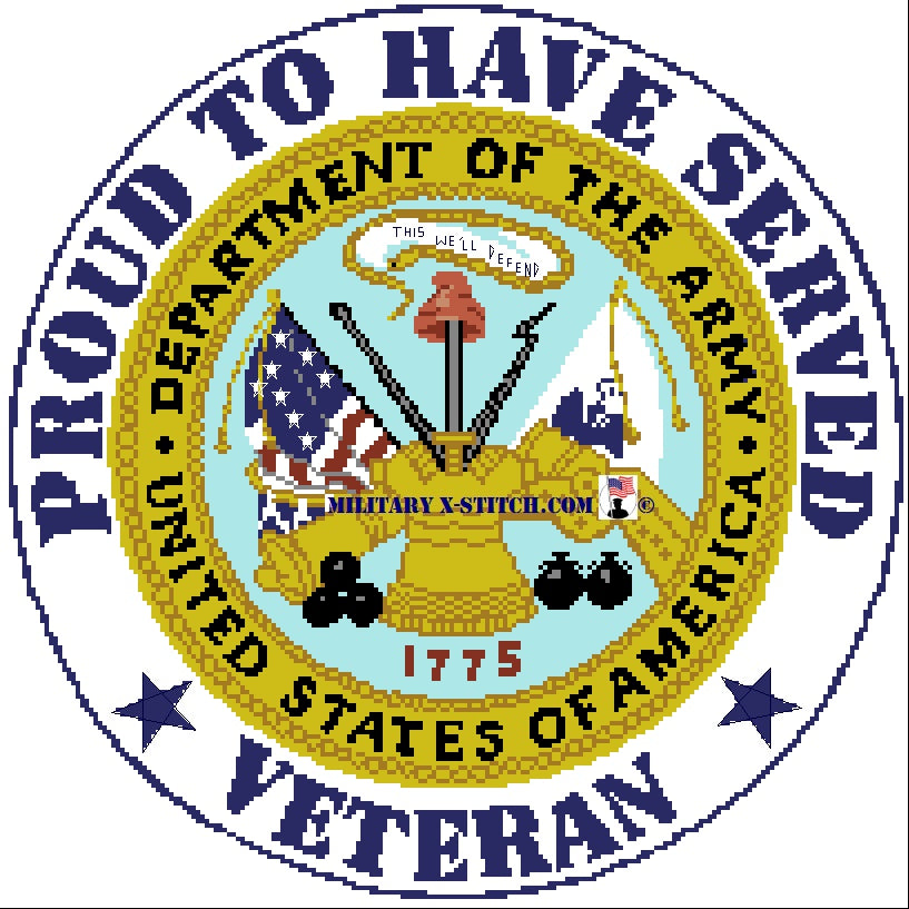 Department of the Army w/ Proud Veteran PDF