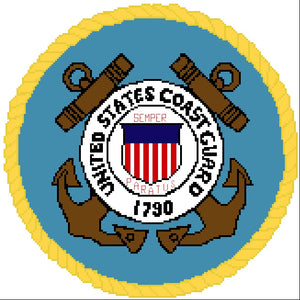Coast Guard Emblem 12 in.