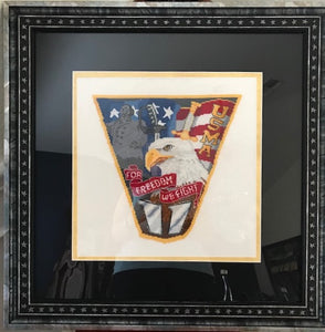 usma class crest 2011 cross stitch pattern from military x stitch as comcompleted by DK